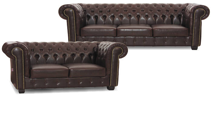 Chesterfield salons donkerbruin