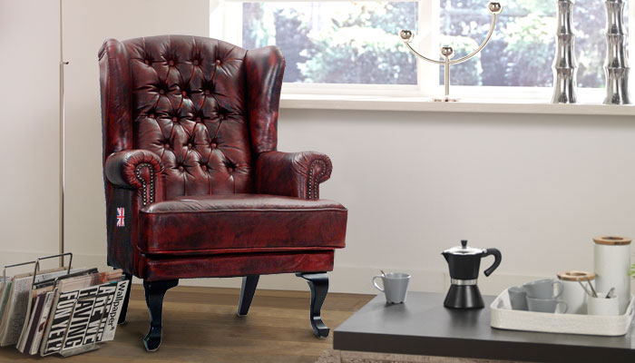 Chesterfield zetel, fauteuil Chesterfield